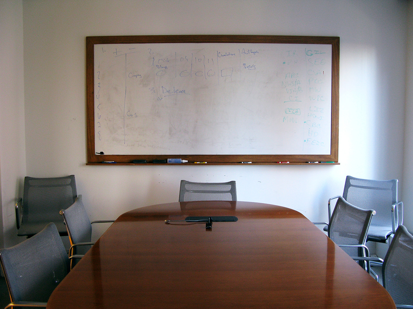 A Tiny Sofa And A Big Table For Barrons Damn Ugly Photography - Whiteboard conference table