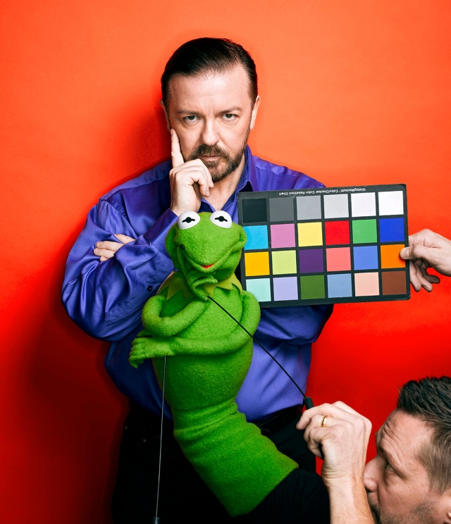 Ricky Gervais & Constantine the Muppet